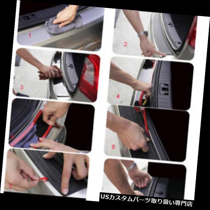 リアバンパー プロテクター ホットファッションオートリアバンパープロテクタートランクシルプレートスクラッチガードラバーパッド Hot Fshion Auto Rear Bumper Protector Trunk Sill Plate Scratch Guard Rubber Pad