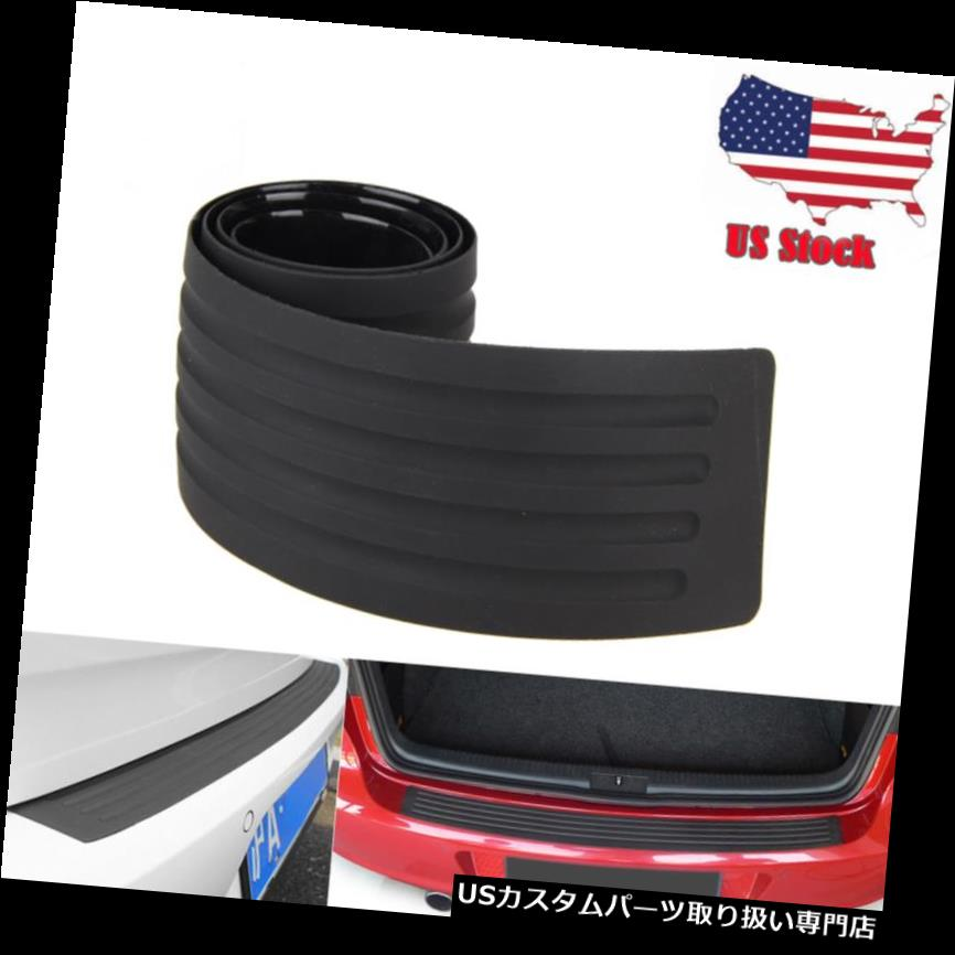 リアバンパー プロテクター マツダシボレー用カーブラックラバーリアガードバンパープロテクタートリムカバー Car Black Rubber Rear Guard Bumper Protector Trim Cover for Mazda  Chevrolet