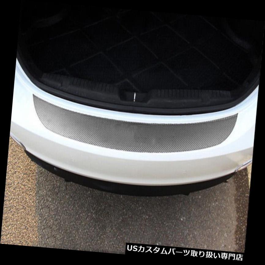 リアバンパー プロテクター 1ピースアクセサリーカーボンファイバーカーリアガードバンパー4Dステッカーパネルプロテクター 1PC Accessories Carbon Fiber Car Rear Guard Bumper 4D Sticker Panel Protector
