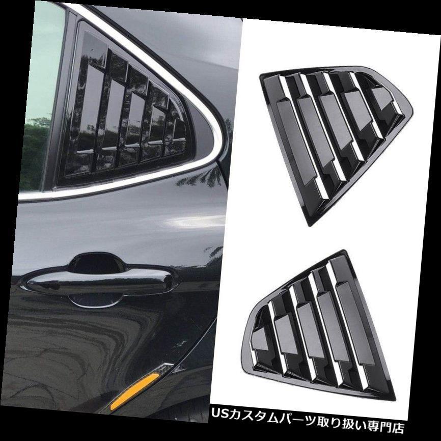 ウィンドウルーバー 2018トヨタカムリブラックリアサイドベントウィンドウルーバーカバートリム用2X 2X For 2018 Toyota Camry Black Rear Side Vent Window Louvers Cover Trim