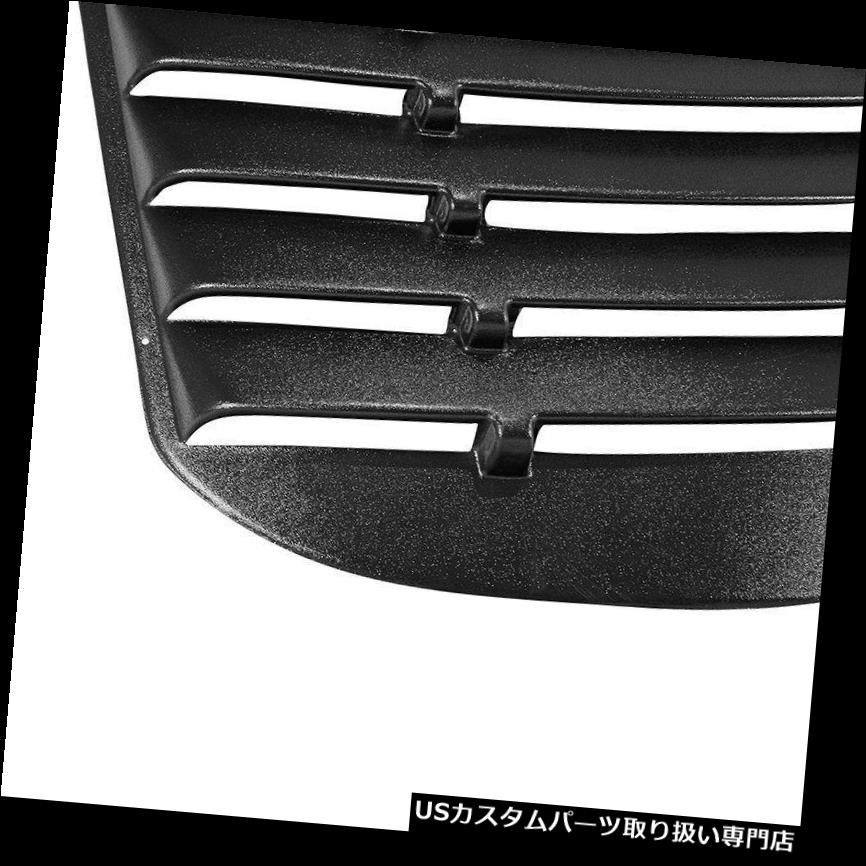 For 16-17 Chevy Cruze Rear Window Louvers Cover Sun Shade Unpainted Black ABS