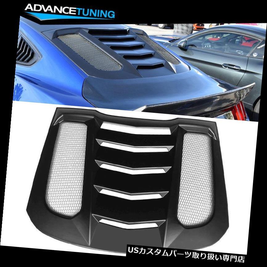 ウィンドウルーバー 15-18フォードマスタングIKON V2 ABSリアウィンドウルーバーにフィット Fits 15-18 Ford Mustang IKON V2 ABS Rear Window Louver