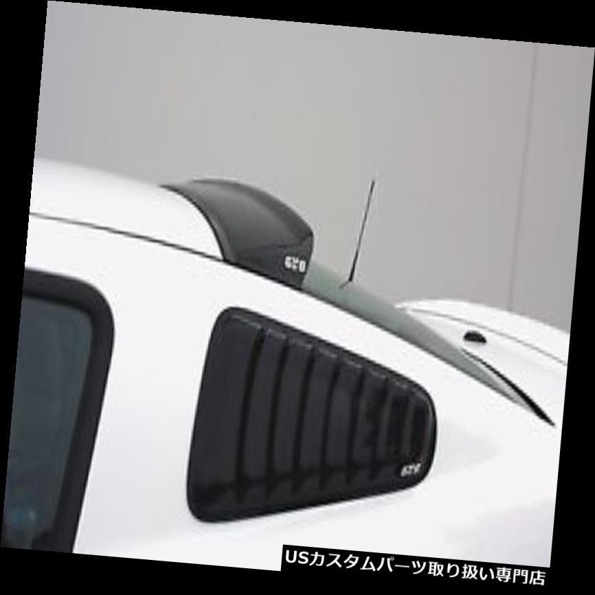 ウィンドウルーバー GTスタイリングGT4812Sクォーターウィンドウルーバースモーク2個 GT Styling GT4812S Quarter Window Louver Smoke 2 pc.