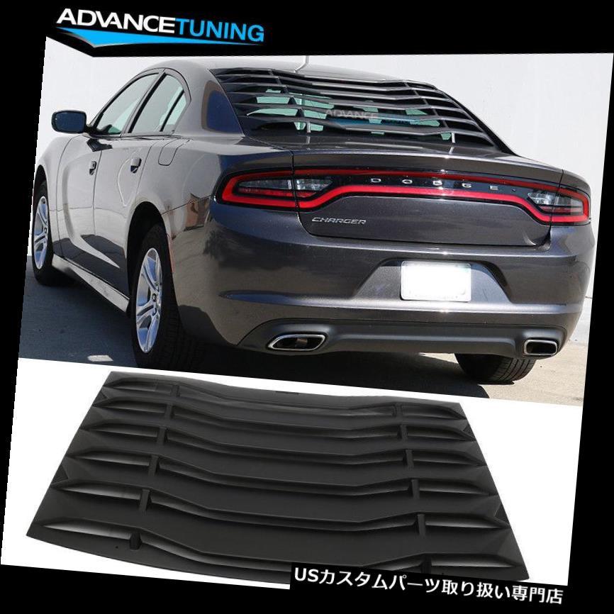 ウィンドウルーバー 11-18ダッジチャージャーイコンスタイルリアウィンドウルーバーカバーベントブラックABSにフィット Fits 11-18 Dodge Charger Ikon Style Rear Window Louver Cover Vent Black ABS
