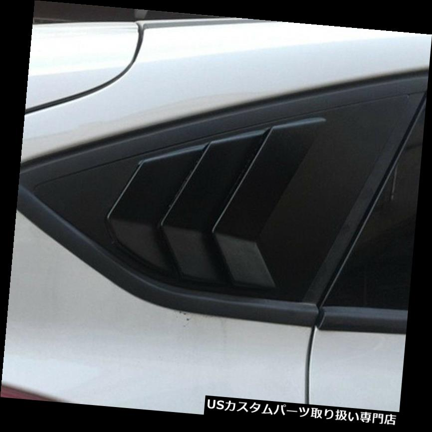 ウィンドウルーバー フォードのための1X車の後部クォーターパネルサイドウィンドウルーバーベントトリムフィット -  1X Car Rear Quarter Panel Side Window Louvers Vent Trim Fit for Ford -