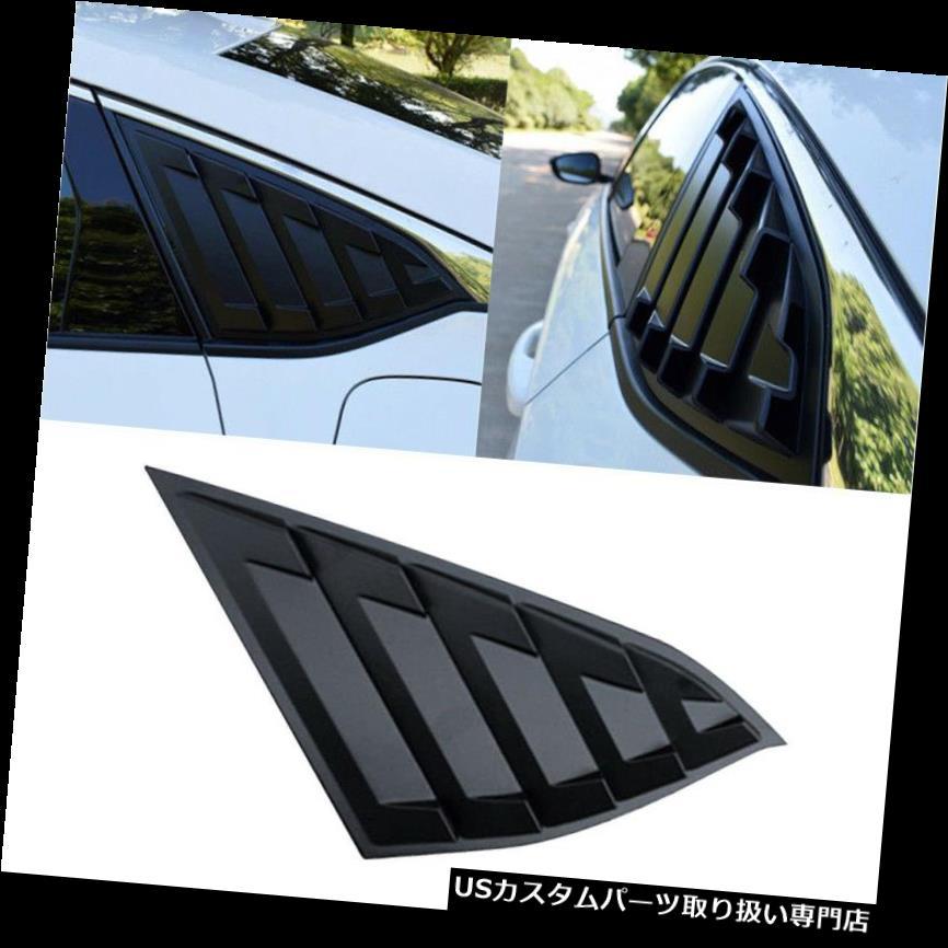 ウィンドウルーバー ホンダアコード2018年I7Q 7用リアウィンドウルーバーサンシェードカバーマットブラック Rear Window Louver Sun Shade Cover Matte Black for Honda Accord 2018 I7Q7