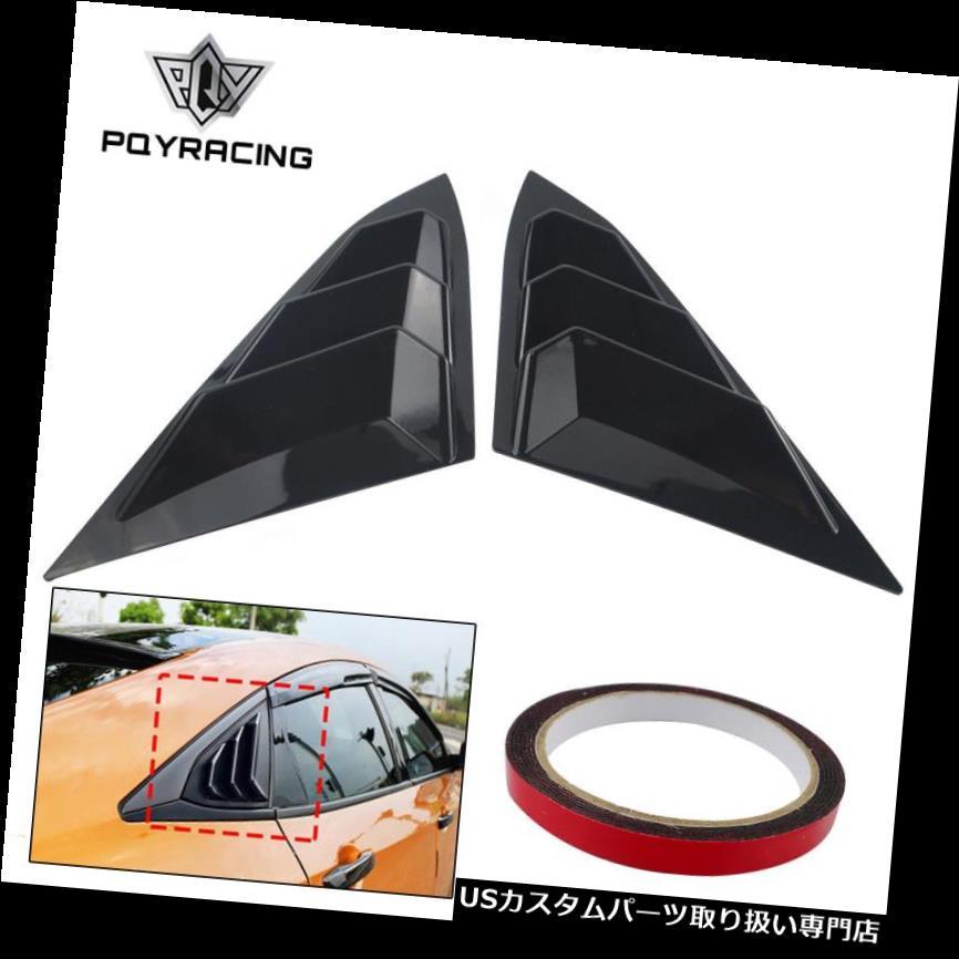 ウィンドウルーバー ホンダシビックのための組の明るい黒の後部パネルの窓の側面のルーバーの出口のトリム Pair Bright Black Rear Panel Window Side Louvers Vent trim For Honda Civic