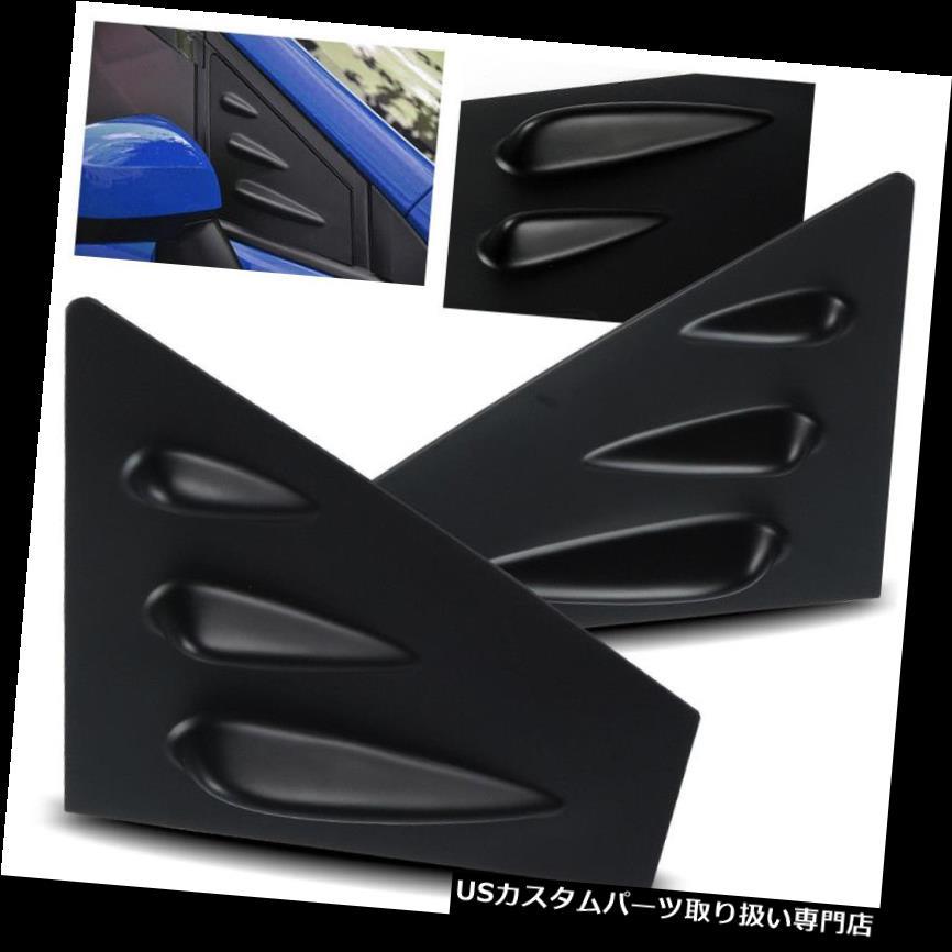 ウィンドウルーバー 2015-2017年スバルWRX / STI VABブラックABSサイドウィンドウルーバースクープカバーベント For 2015-2017 Subaru WRX/STI VAB Black ABS Side Window Louvers Scoop Cover Vent