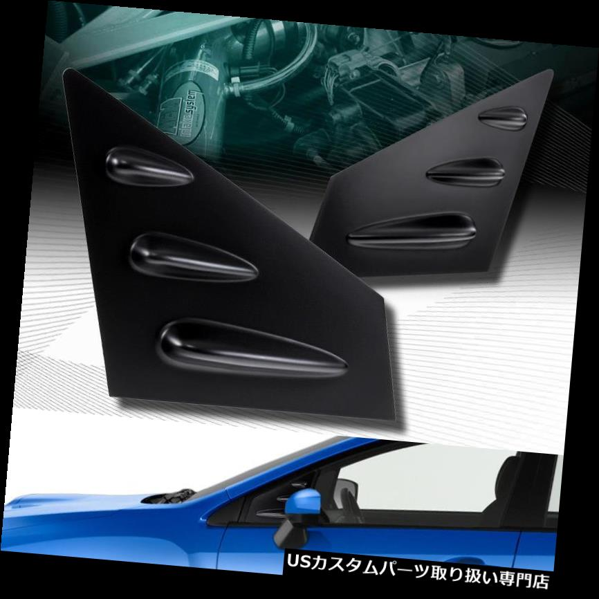 ウィンドウルーバー 黒のABSサイドウィンドウルーバーSCOOP COVERベントフィット15-18 SUBARU WRX STI SEDAN BLACK ABS SIDE WINDOW LOUVERS SCOOP COVER VENT FIT 15-18 SUBARU WRX STI SEDAN