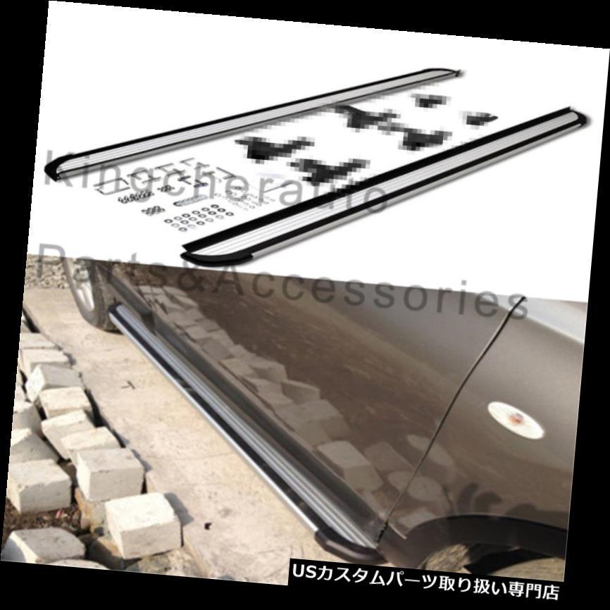 サイドステップ 2ピースアルミフィット用RAV4 2013-2018ランニングボードサイドステップナーフバープロテクター 2Pcs aluminium fit for RAV4 2013-2018 running board side step Nerf bar protector