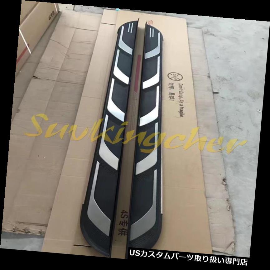 サイドステップ Chevrolet Equinox 2018 2019ランニングボードサイドステップNerfバー用最新フィット Newest Fit for Chevrolet Equinox 2018 2019 Running Board Side Step Nerf Bar