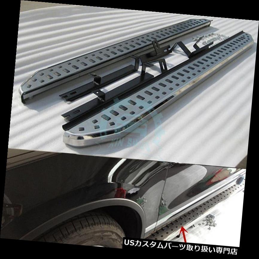 サイドステップ Touareg 11-16アルミペダルランニングボードサイドステップナーフバー用新機能 For Touareg 11-16 Aluminum Pedal Running Board Side Step Nerf Bar New