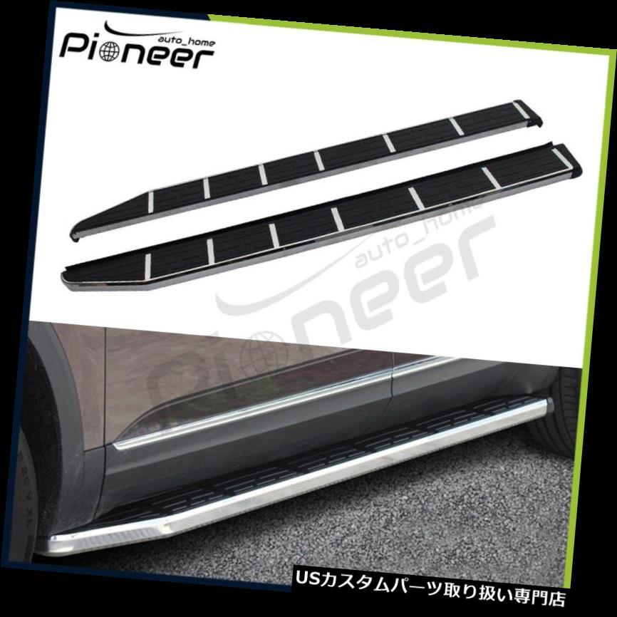 サイドステップ ジープコンパス2017 2018ドアランニングボードNerfバー用固定サイドステップフィット Fixed Side Step Fits for Jeep Compass 2017 2018 Door Running Boards Nerf Bar