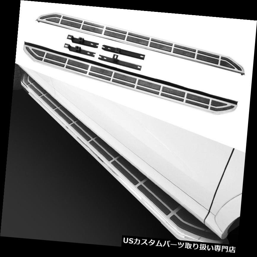 サイドステップ AUDI Q7 2009-2015年の連続した板のための2 PCSプラットホームIboard Nerf棒側面ステップ 2 PCS Platform Iboard Nerf Bar Side Step for AUDI Q7 2009-2015 Running Board