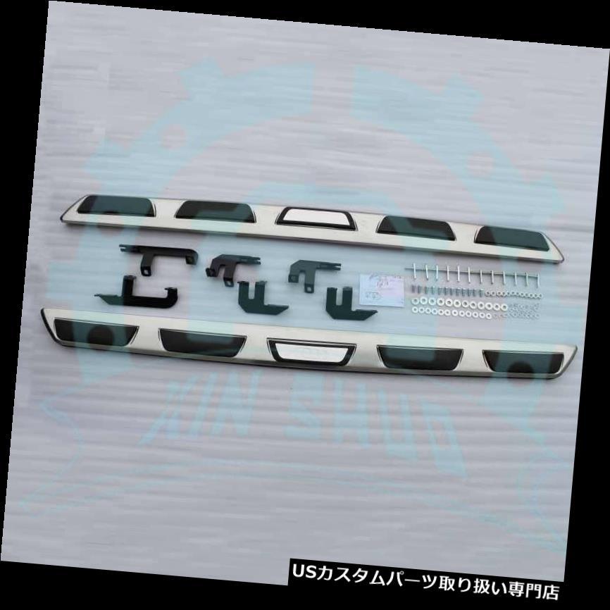 サイドステップ AUDI Q3 2012-2018ステンレススチールランニングボードサイドステップサイドナーフバーB用 for AUDI Q3 2012-2018 Stainless Steel Running Boards Side Step Side Nerf Bar B