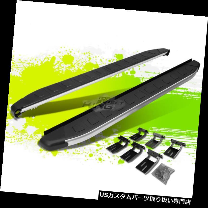 サイドステップ 5.75 '11/17ジープグランドチェロキー用メタリック/ブラックランニングボードステップナーバー 5.75' METALLIC/BLACK RUNNING BOARD STEP NERF BARS FOR 11-17 JEEP GRAND CHEROKEE