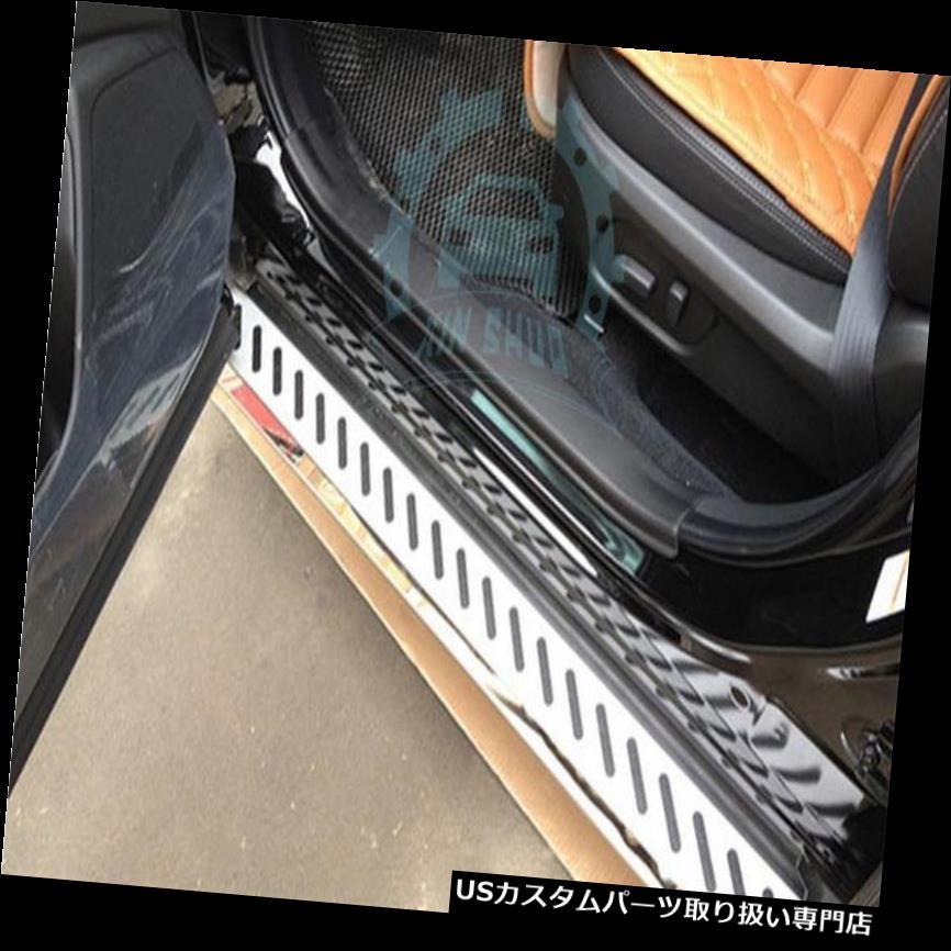 サイドステップ スバルフォレスター2013-15フィットサイドステップナーフバーランニングボードウェルカムペダル For Subaru Forseter 2013-15 Fit Side Step Nerf Bars Running Boards Welcome Pedal