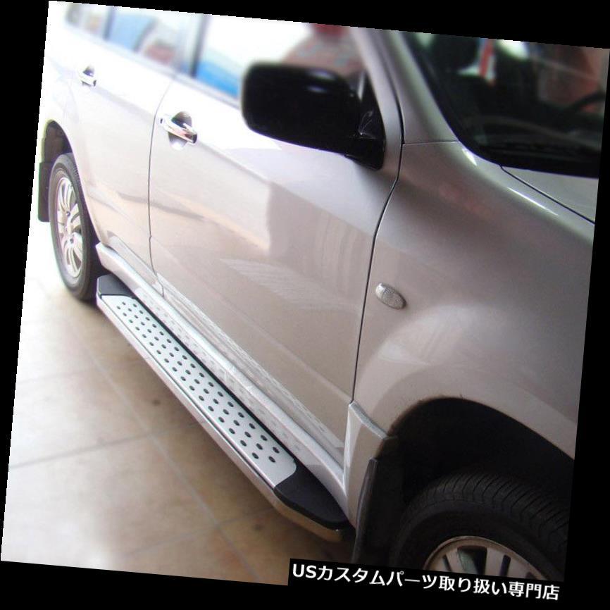 サイドステップ Outlander 2004-06車のサイドペダルのフットボードセットのための耐久性のある使用フィット穴あけ Durable Use Fit For Outlander 2004-06 Car Side Pedal Foot Board Set No Drilling