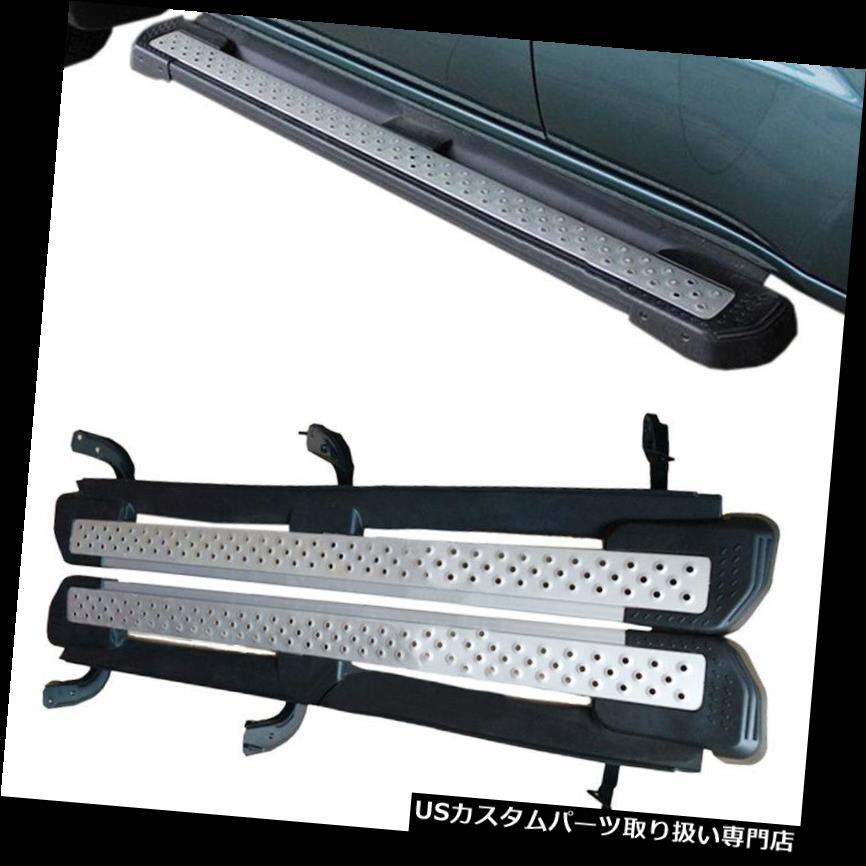 サイドステップ Mitsubishi Pajero V31 V32 V33 2004-2015用ドリリングナーフバーフットボードセットなし No Drilling Nerf Bars Foot Board Set for Mitsubishi Pajero V31 V32 V33 2004-2015