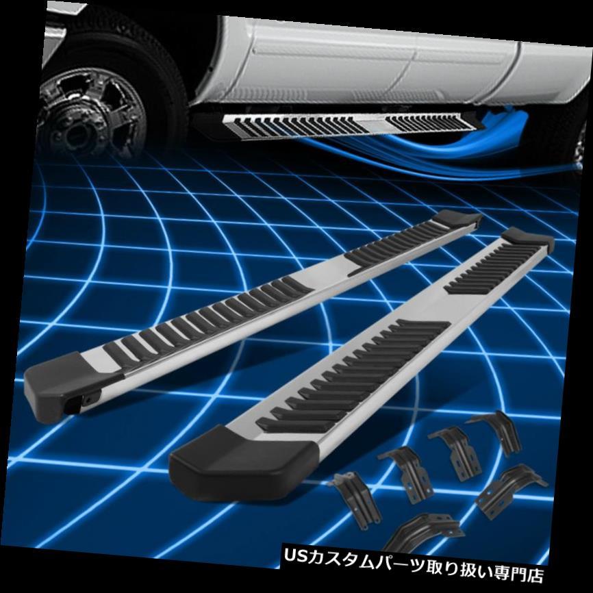 サイドステップ 99-16フォードスーパーデューティクルーキャブステンレスランニングボードステップバー交換用 For 99-16 Ford Super Duty Crew Cab Stainless Running Boards Step Bar Replacement