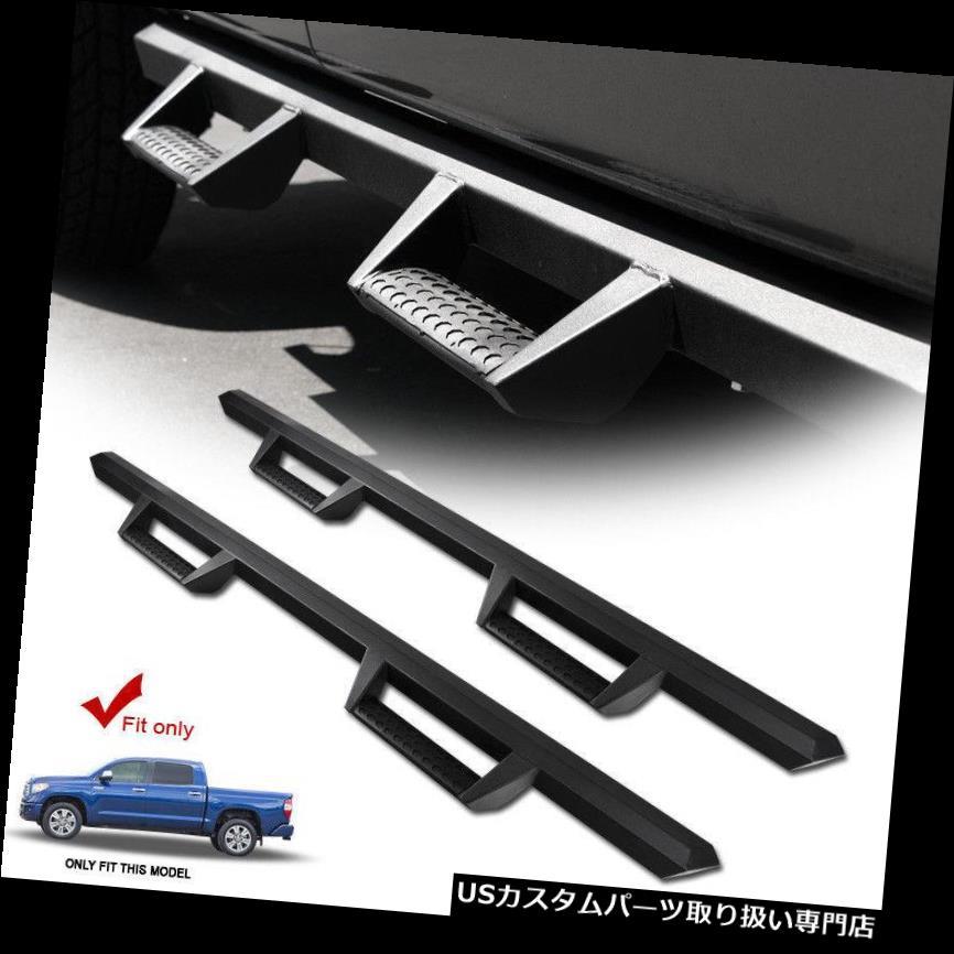 サイドステップ 07-17トヨタツンドラクルーマックスキャブマグナムスタイルランニングボードサイドステップバーブラック 07-17 Toyota Tundra CrewMax Cab Magnum Style Running Boards Side Step Bars Black