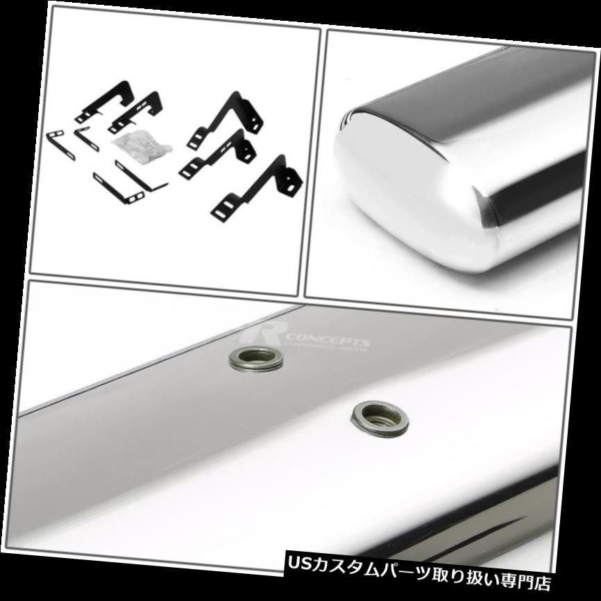 For F150 09-12 Super Crew 6 Oval Chrome Black Running Board Side Step Nerf Bar