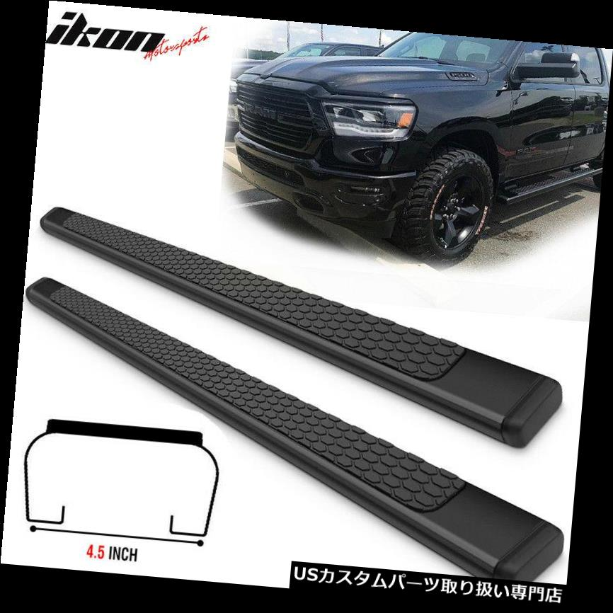 サイドステップ 19ダッジラムクルーキャブOEスタイルブラックサイドステップナフバーランニングボード Fits 19 Dodge Ram Crew Cab OE Style Black Side Step Nerf Bars Running Boards