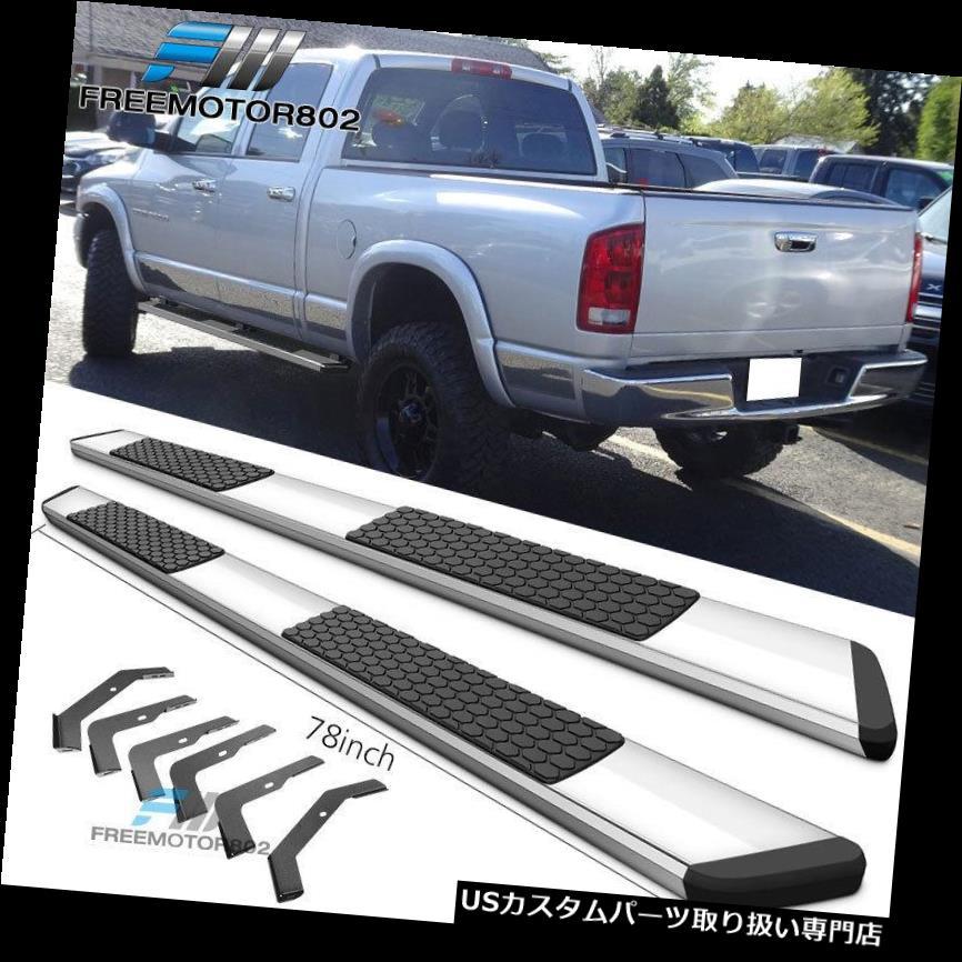 サイドステップ 02-08ダッジラムクワッドタクシー78インチ高級OEスタイルランニングボードクロームにフィット Fits 02-08 Dodge Ram Quad Cab 78inch Luxury OE Style Running Boards Chrome
