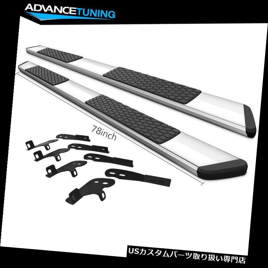 サイドステップ 04-10ダッジデュランゴ78インチOEスタイルナーフバーランニングボードクロム Fits 04-10 Dodge Durango 78inch OE Style Nerf Bars Running Boards Chrome