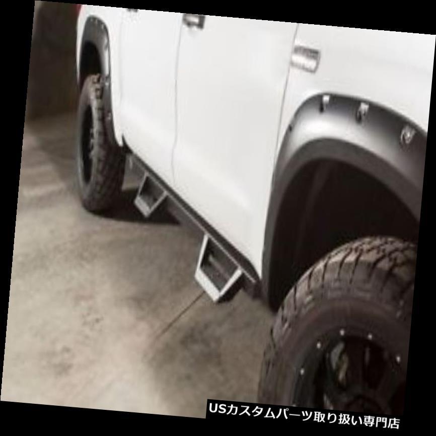サイドステップ 07-17ツンドラクルーマックスキャブマグナムスタイルステップランニングボードサイドステップバーブラック 07-17 Tundra CrewMax Cab Magnum StyleSteps Running Boards Side Step Bars Black