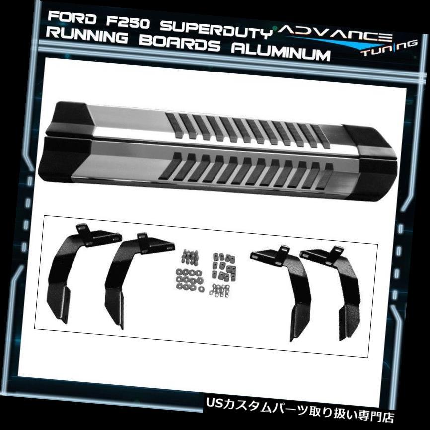 サイドステップ 99-16 F250 Superduty Reg Cab Nerfバーランニングボードアルミ光沢クローム Fits 99-16 F250 Superduty Reg Cab Nerf Bar Running Board Aluminum Glossy Chrome