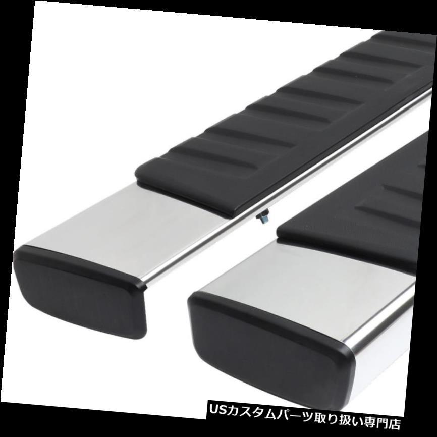 サイドステップ 99-16フォードの極度の義務延長のための2xステンレス製の側面の段のステップバーランニングボード 2x Stainless Side Nerf Step Bar Running Board For 99-16 Ford Super Duty Extended