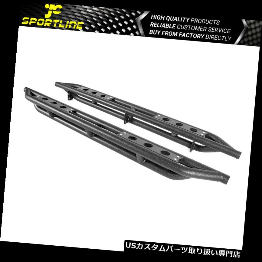 "Fits 07-18 GMC Sierra//Chevy Silverado Extended Cab 6/"" Nerf Bars Side Armor Black"