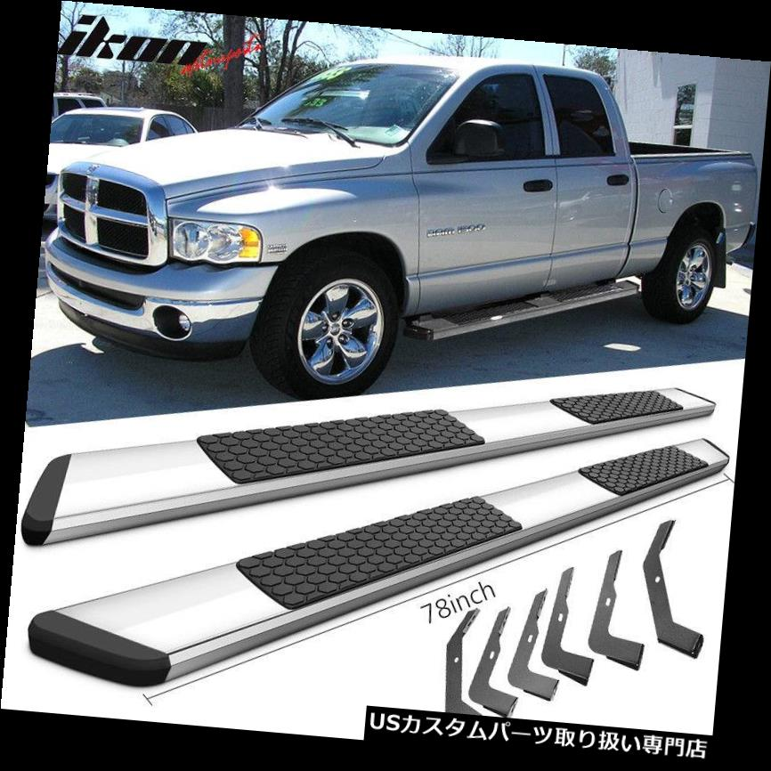 Fits 02-08 Dodge Ram Crew Cab 82inch Ram OE Style Running Boards Chrome