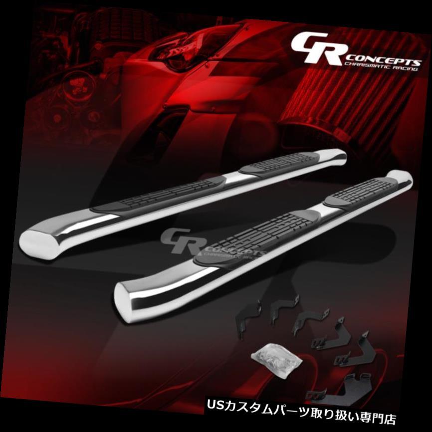 サイドステップ 05-15トヨタタコマ拡張CAB用シルバー4インチオーバルステップナーバーランニングボード SILVER 4