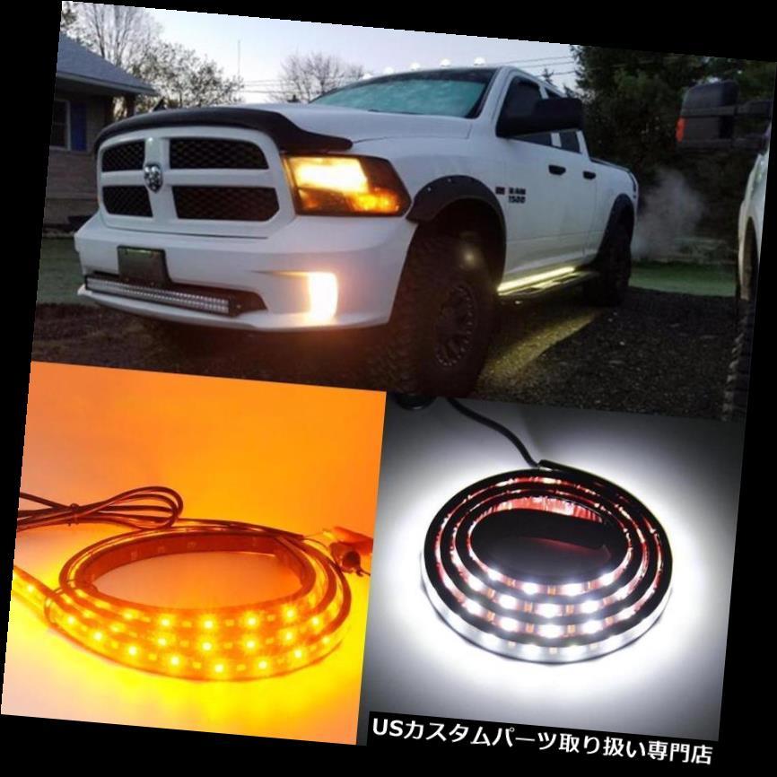 サイドステップ シボレーダッジGMCフォードSUV用2XランニングボードサイドステップLEDライトストリップ48 '' 2X Running Board Side Step LED Light Strip 48'' for Chevy Dodge GMC Ford SUV