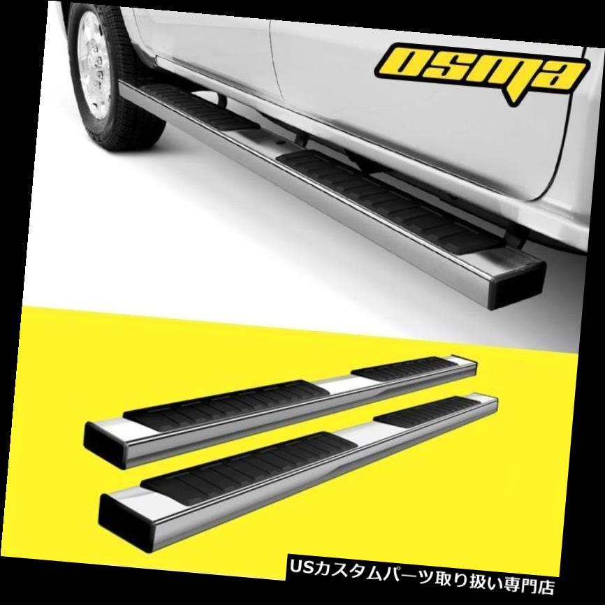 サイドステップ 07-19 GMCシエラシボレーシルバラードダブルキャブポリッシュサイドステップランニングボード用 For 07-19 GMC Sierra Chevy Silverado Double Cab Polish Side Step Running Boards