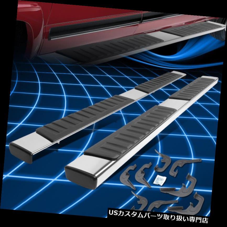 サイドステップ 7-18 Silverado / Sier  raクルーキャブ用6インチクロームランニングボードステップバー左+右 6