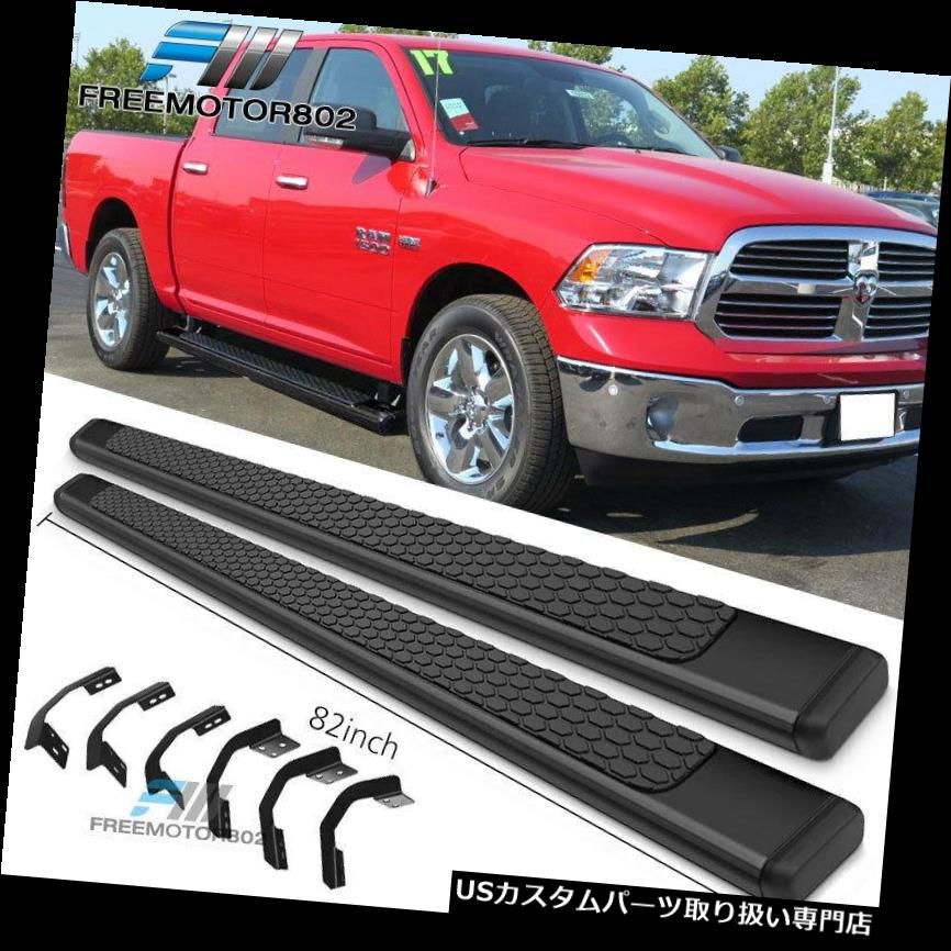 サイドステップ 09-18ダッジラムクルーキャブ82インチOEスタイルランニングボードブラック Fits 09-18 Dodge Ram Crew Cab 82inch OE Style Running Boards Black