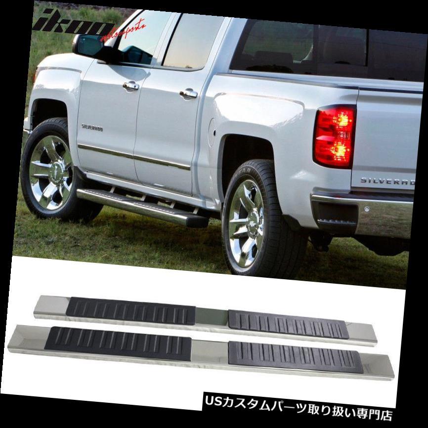 サイドステップ 07-19シボレーシルバラードシエラ1500 Ext Cab 5インチサイドステップランニングボードに適合 Fits 07-19 Chevy Silverado Sierra 1500 Ext Cab 5inch Side Steps Running Boards