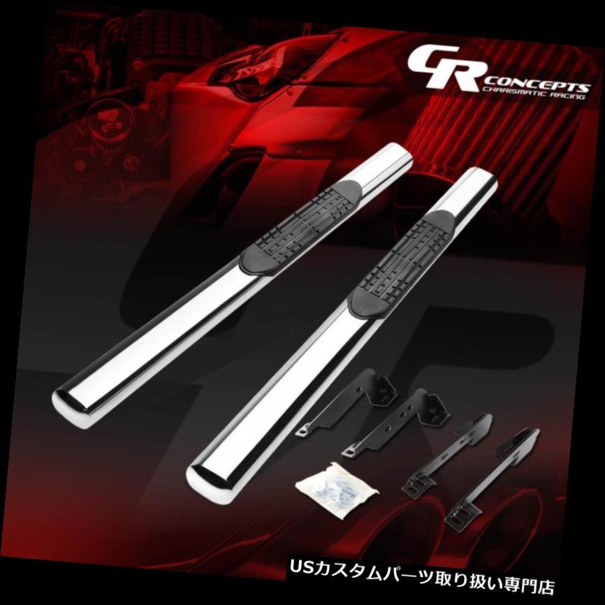 サイドステップ 99インチSILVERADO / SIER  RA用4インチオーバルブラックREG /スタンダードCABサイドステップランニングボード 4