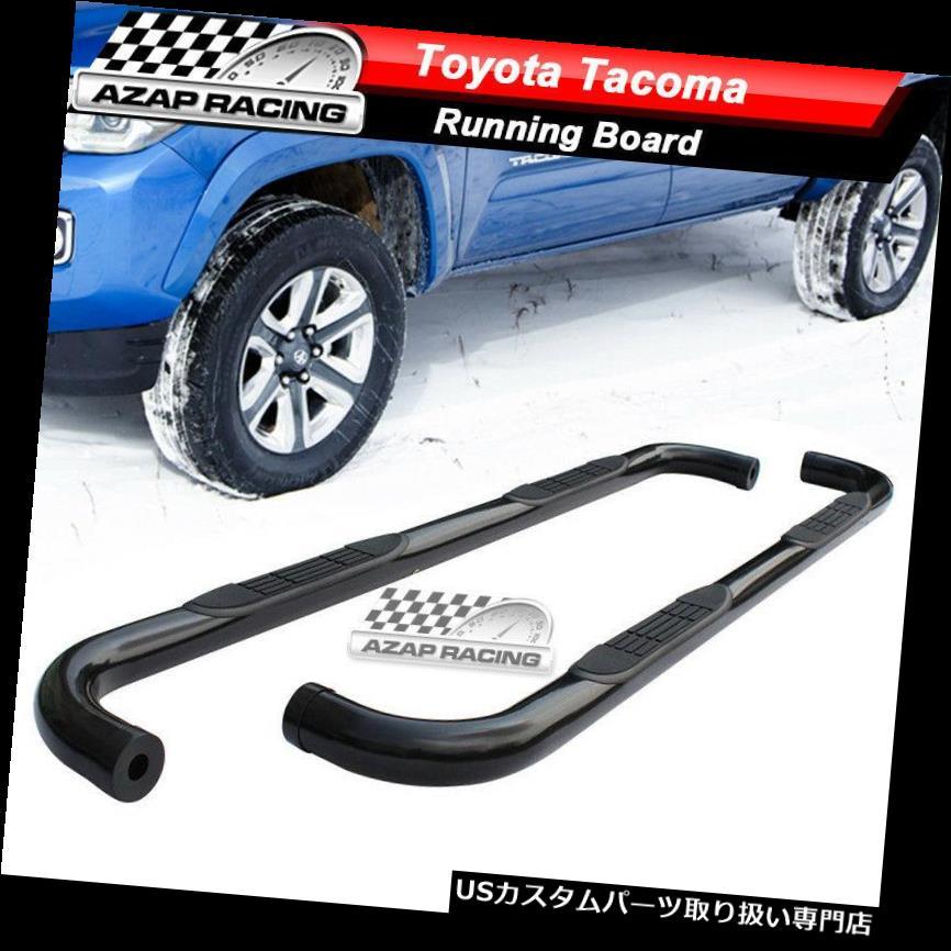 サイドステップ 2005-2018トヨタタコマ拡張キャブステンレス鋼ナフバーに適合 Fits 2005-2018 Toyota Tacoma Extended Cab Stainless Steel Nerf Bars