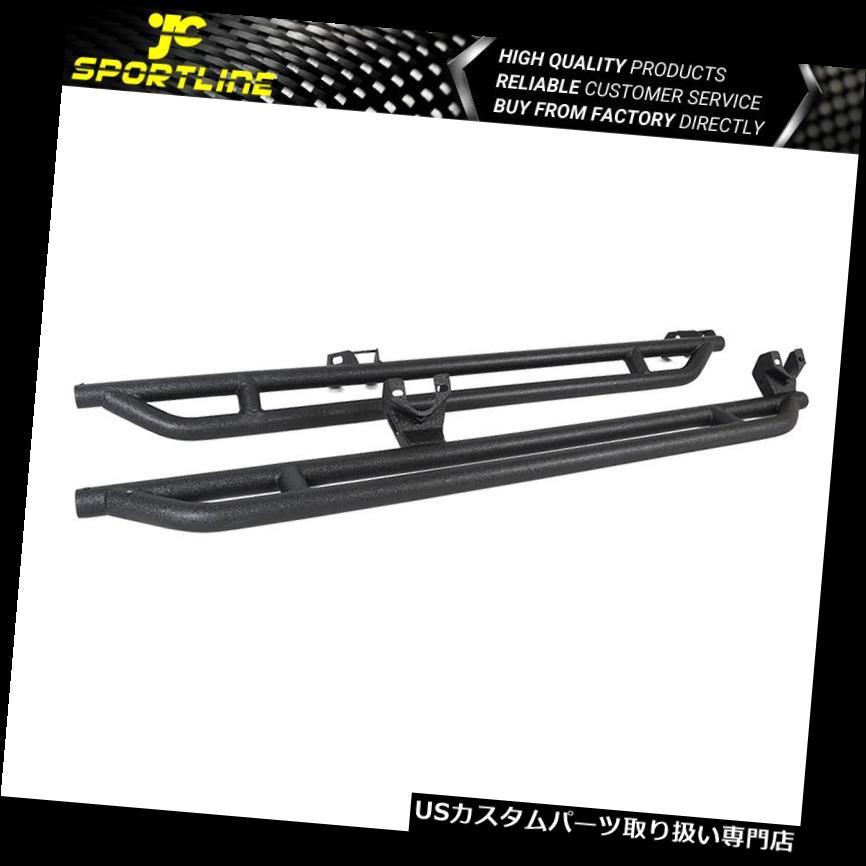 サイドステップ 07-18ラングラーJK 4 DOORオフロードサイドステップサイドアーマーブラック Fits 07-18 Wrangler JK 4 DOOR Off Road Side Steps Side Armor Black