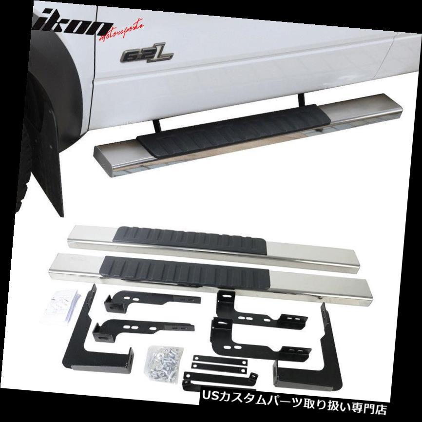 サイドステップ 99-13シボレーシルバラードレッグキャブ5インチサイドステップバーランニングボードSSクロームにフィット Fits 99-13 Chevy Silverado Reg Cab 5inch Side Step Bar Running Boards SS Chrome
