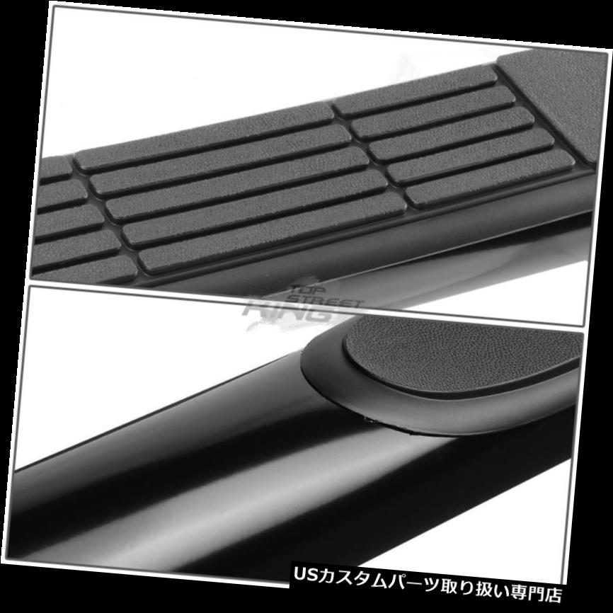 "Black 3/""Round Tubing Nerf Bar Side Step Board For 09-14 Ford F150 Standard Cab"