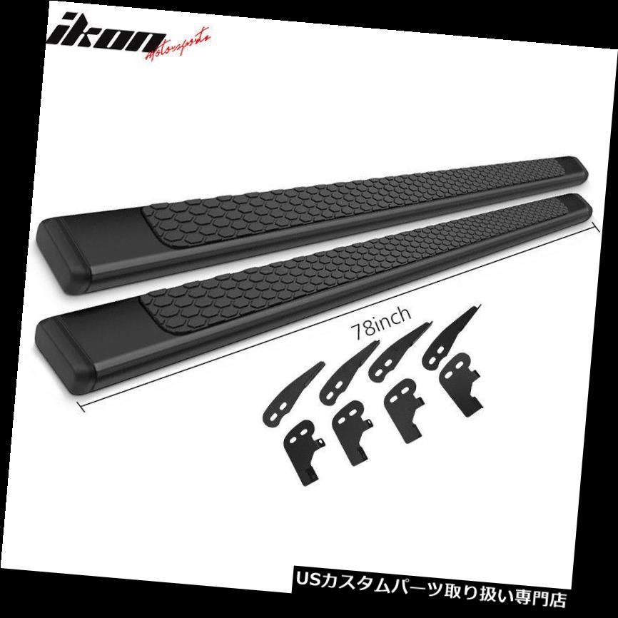 サイドステップ 04-10ダッジデュランゴ78インチラムOEスタイルステップバーランニングボードブラックペア Fits 04-10 Dodge Durango 78inch Ram OE Style Step Bars Running Boards Black Pair