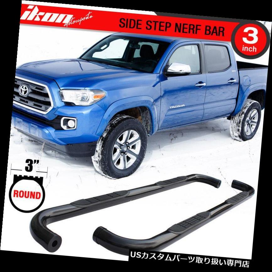 サイドステップ 05-19トヨタタコマの拡張タクシーのステンレス鋼の側面ステップランニングボード Fits 05-19 Toyota Tacoma Extended Cab Stainless Steel Side Steps Running Boards