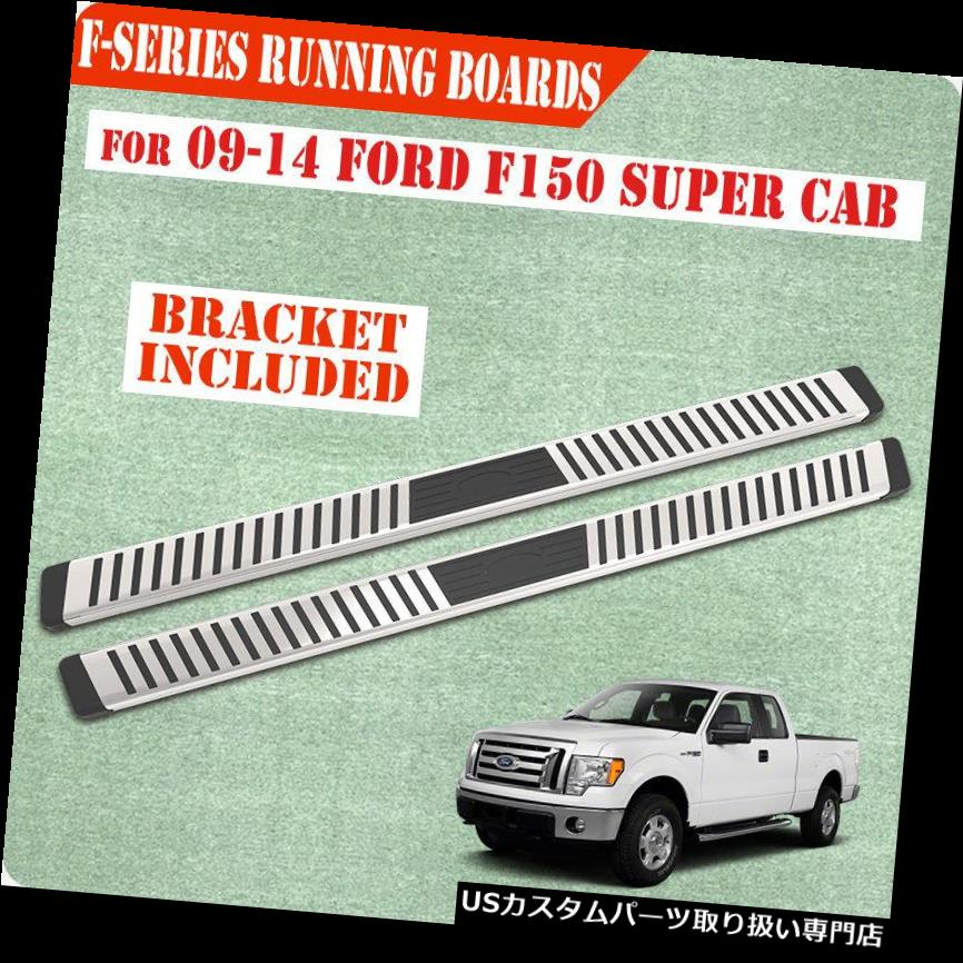 "6/"" For 15-19 FORD F150 Super//Ext Cab Running Board Side Step Nerf Bar V Grey"