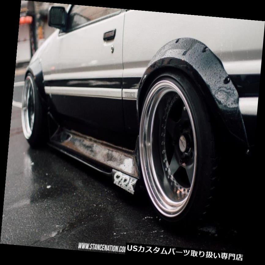 オーバーフェンダー ハチロクJDMフェンダーフレアトヨタカローラAE85 AE86(4本) Hachiroku JDM fender flares Toyota Corolla AE85 AE86 (4pcs)