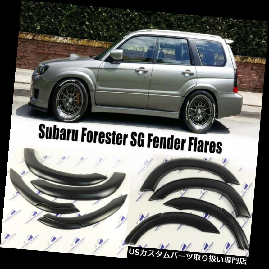 オーバーフェンダー スバルフォレスターフェンダーフレアフロント&リアホイールアーチプロテクターフィット02-08 6 PCS Subaru Forester Fender Flares Front&rear Wheel Arch Protector Fit 02-08 6 PCS